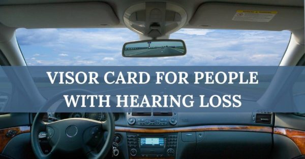 Hearing Wellness Solutions - Visor Card for People with Hearing Loss
