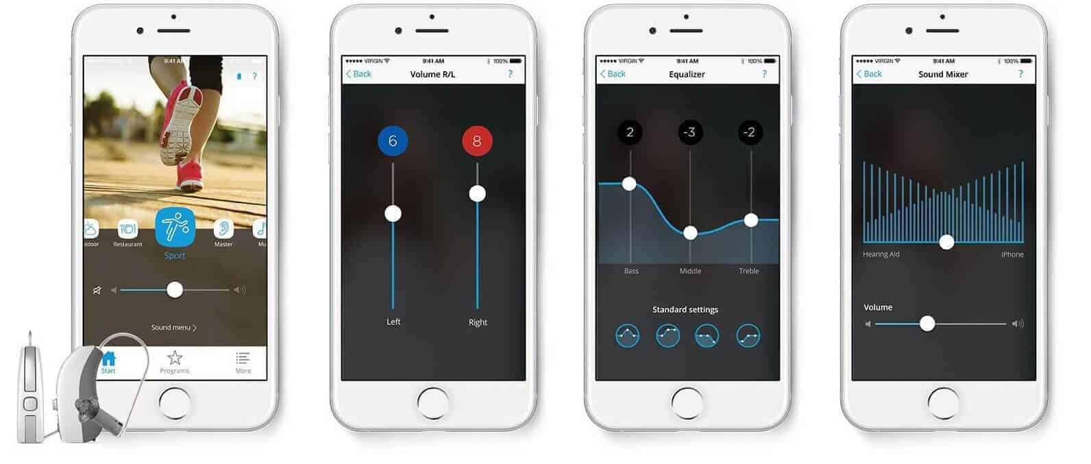 digital hearing aids paired with iphone